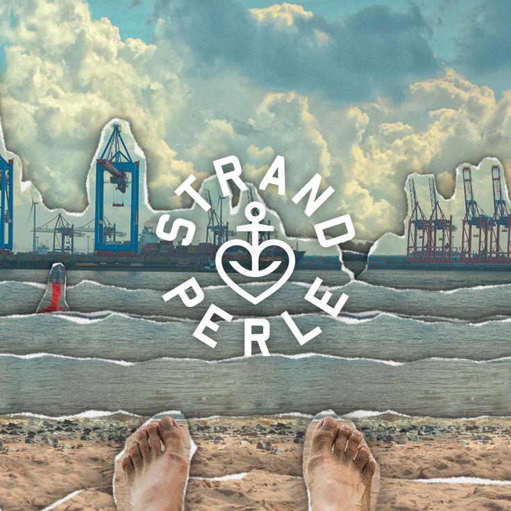 Die Strandperle, ein magischer Ort, an dem die Containerriesen vorbei gleiten, die Menschen am Strand sitzen und auf die Elbe schauen.