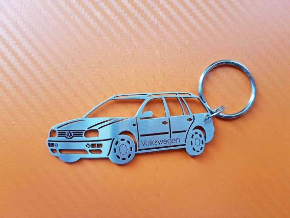 VW Golf 3 variant Keychain Car Keychain by GuestFromThePast