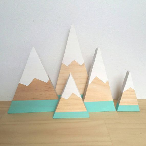 Timber mountain deco monochrome pink teal interior by LePetitCadre