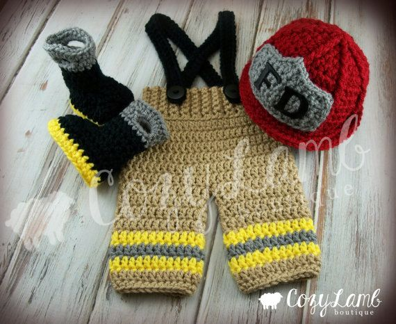 ***This is a made to order Item***    This little fireman set is a must have for any photographer!! It also makes the perfect gift for any