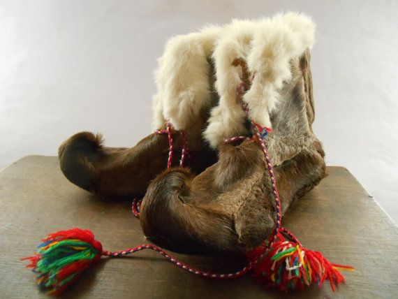 Vintage Laplander Saami boots Reindeer fur boots