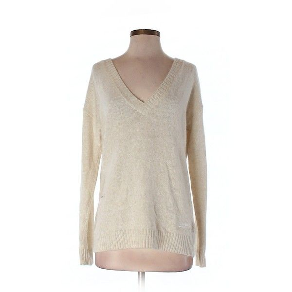 Pre-owned Superdry Pullover Sweater Size 4: Beige Women's Tops ($20) ❤ liked on Polyvore featuring tops, sweaters, beige, beige pullover sweater, brown tops, sweater pullover, beige top and beige sweater