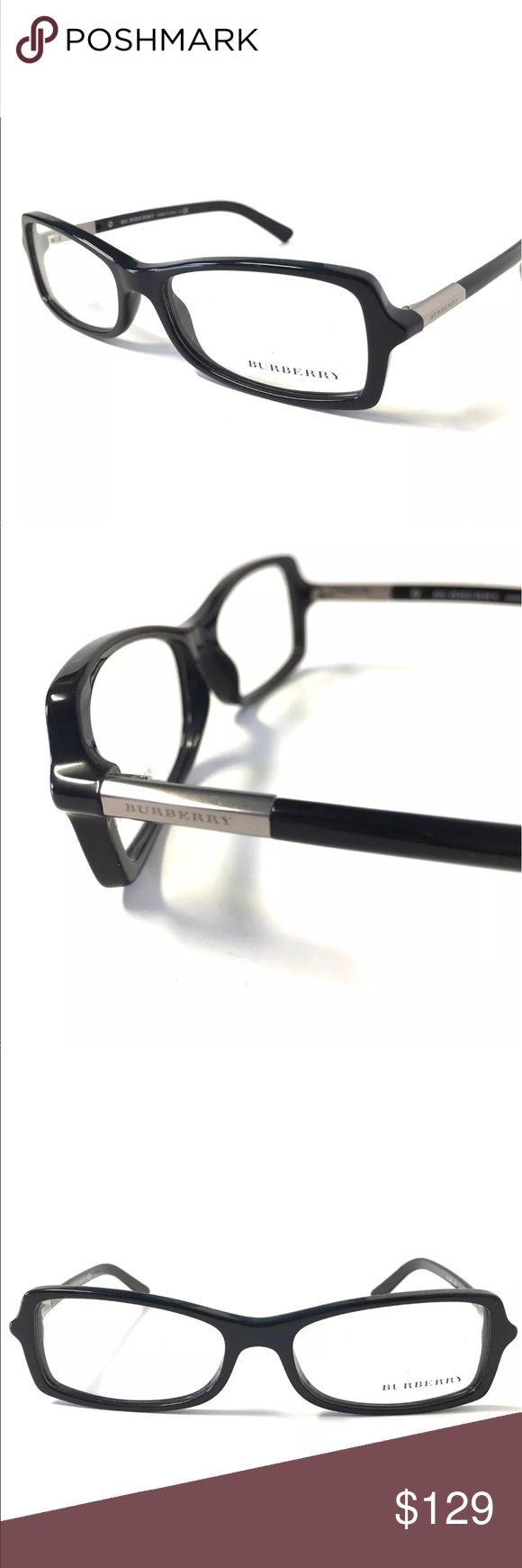 Black Silver Burberry Eyeglasses Black Silver Burberry Eyeglasses  Burberry Eyeglasses for Prescription lenses  SIZE: 52mm - 15mm - 135mm  100% Authentic!!!  Includes a Burberry Case. No Tags Burberry Accessories Glasses