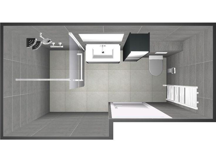 Een 3D badkamer ontwerp gemaakt door Sanidrome, om zo alvast de badkamer ideeën voor de klant te visualiseren