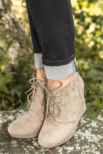 Rise To The Occasion Booties-Taupe