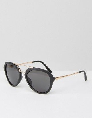 7c021b27c75 AJ Morgan Aviator Sunglasses in Matt Black and Contrast Gold  sunglasses   womens  summer