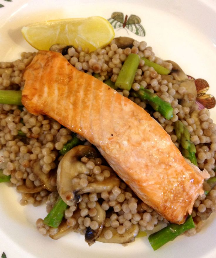 Baked Salmon with Merchant Gourmet Giant Couscous