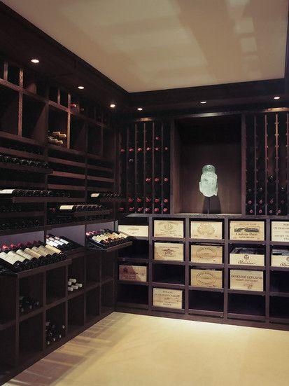 Custom Wine Cellar   Wenge Wood   2200 Bottles, Contemporary Wine Cellar