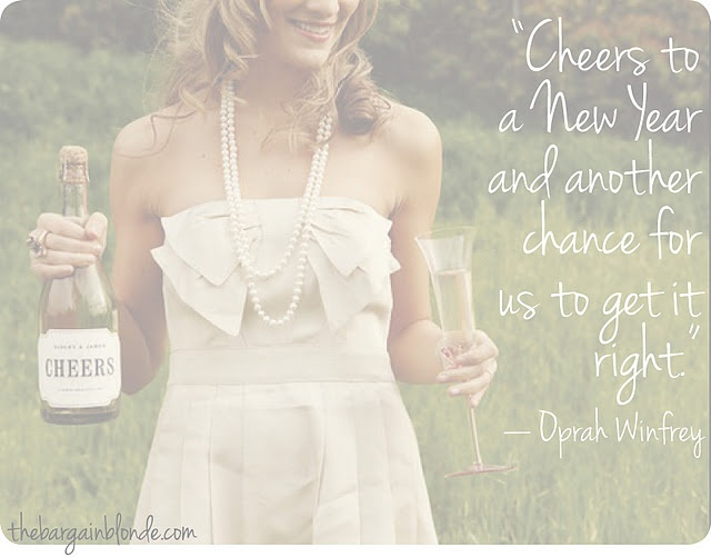 Cheers to a New Year, quote by Oprah Winfrey...
