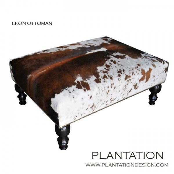Plantation Design -- Print: Leather Worker, Plantation Ottoman, Plantation Design, Ottomans, Country Cottage, Leon Ottoman