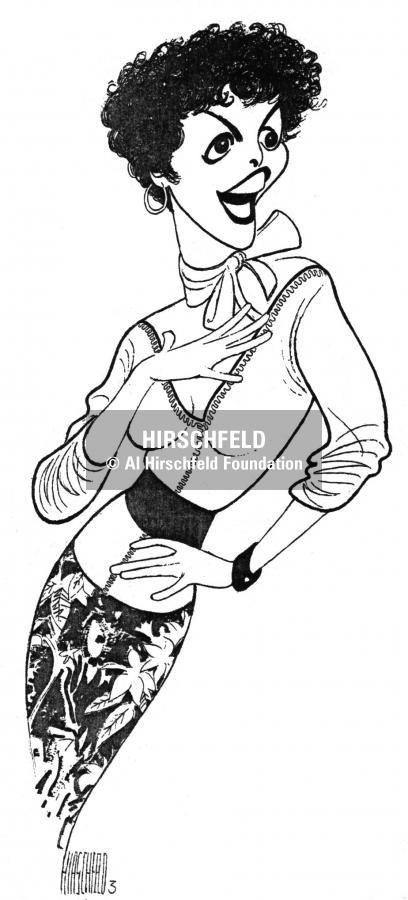 """Al Hirschfeld ~ Priscilla Lopez in """"Non-Pasquale"""""""