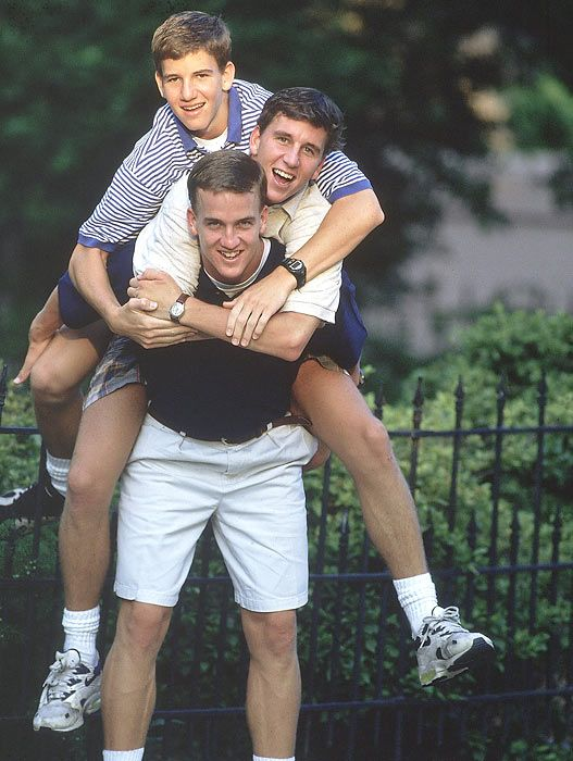 Peyton Manning Family | Rare Photos of the Mannings - 1996 | Sports Illustrated Kids - Peyton, Cooper & Eli