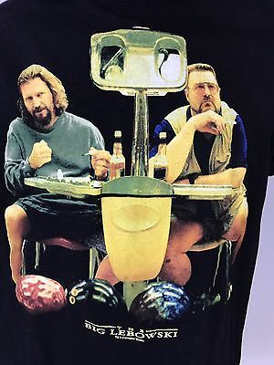 The Big Lebowski Mens Anvil T Shirt SMALL Universal Studios Walter Bowling  | eBay