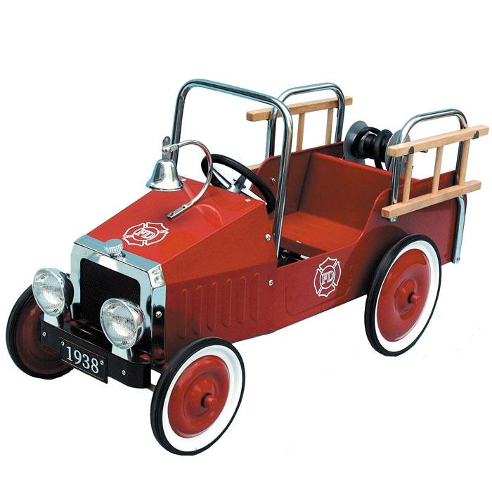 vintage fire engine pedal car