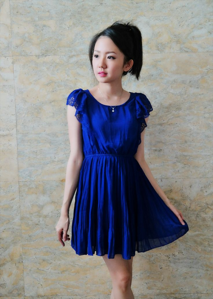 Anastacia dress blue/bust up to 100/length 79/210k/ Email: order@fellinboutique.com, LINE: FellinBoutique, BBM: 7637D27C