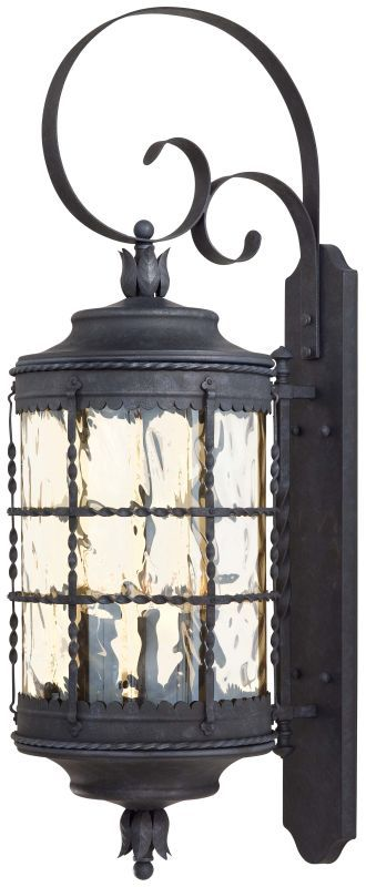 """The Great Outdoors GO 8883 5 Light 41.25"""" Height Outdoor Wall Sconce from the Ma Mediterranean Iron Outdoor Lighting Wall Sconces Outdoor Wall Sconces"""
