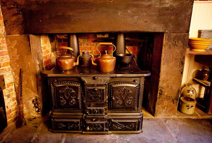 An 1840 Coal Oven Stove Used By The Servants To Prepare