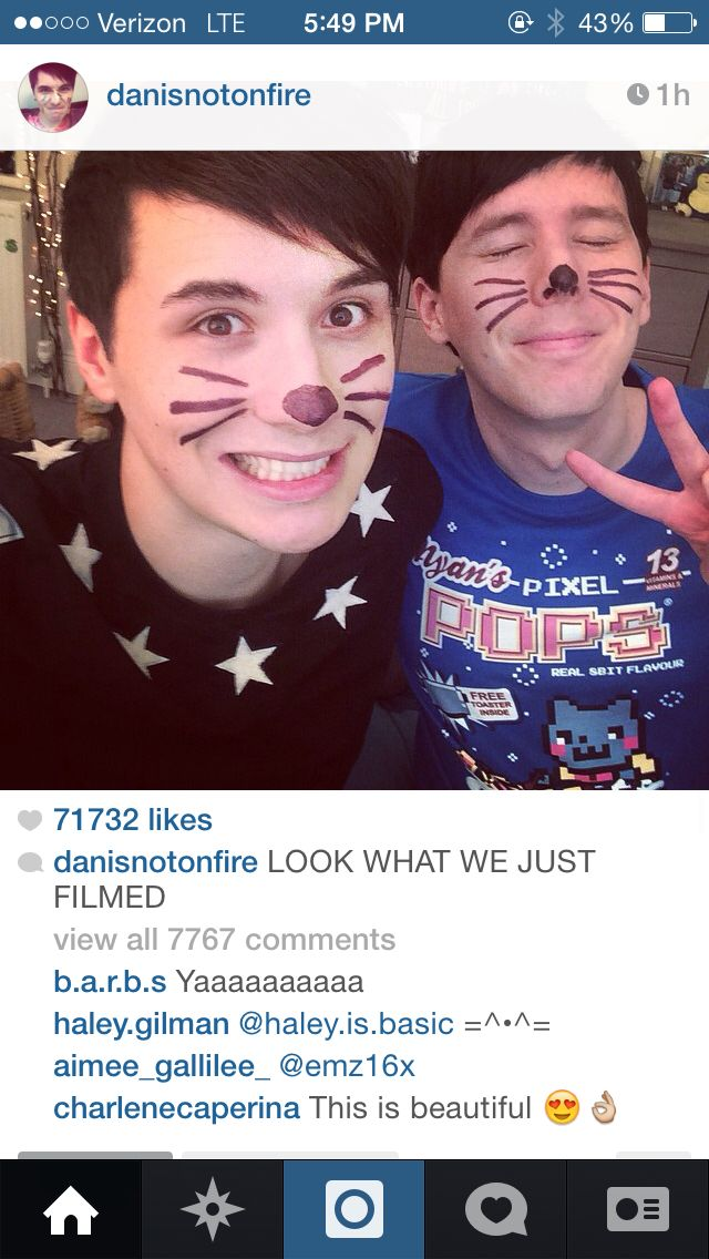 DAN LOOKS SO AWKWARD AND THEN THERE'S PHIL WHO'S ALL KAWAII AND UGHH