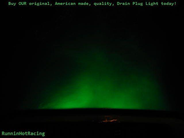 """GREEN LED DRAIN PLUG LIGHT 1/2"""" NPT 12V Underwater Boat Marine Brass"""