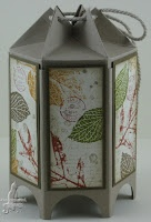 "Box aus Mini-Milchkarton (Mini Milk Carton) / SU mit Füßen, bestempelt mit ""French Foliage"" Anleitung s. hier: http://kbpapercraft.blogspot.com/2011/06/asian-inspired-and-my-first-tutorial.html"