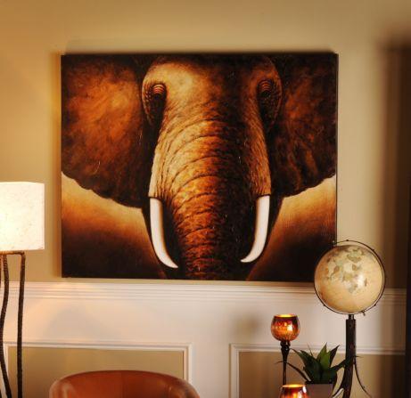 Tusks Canvas Painting #kirklands #animalinstincts #tusks #canvas #painting