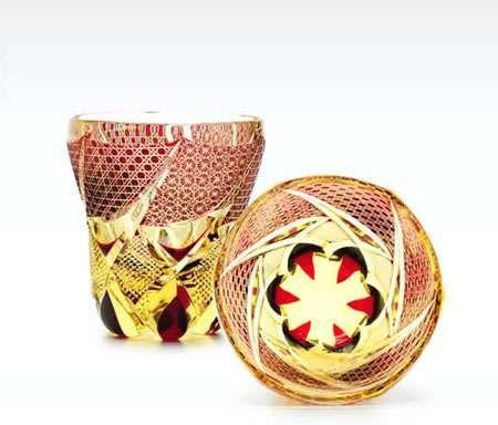 Engraved Traditional Glasses - The 'Hanasho Edo Kiriko' is a Beautiful Asian Goblet (GALLERY)