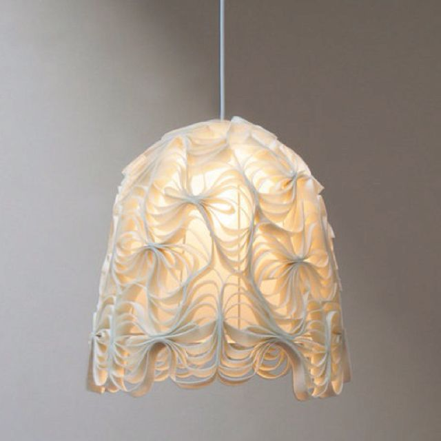 Pinned paper lampshade