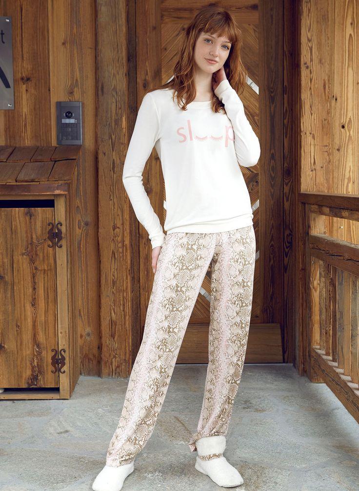 Penye Mood 7833 Bayan Pijama Takım | Mark-ha.com