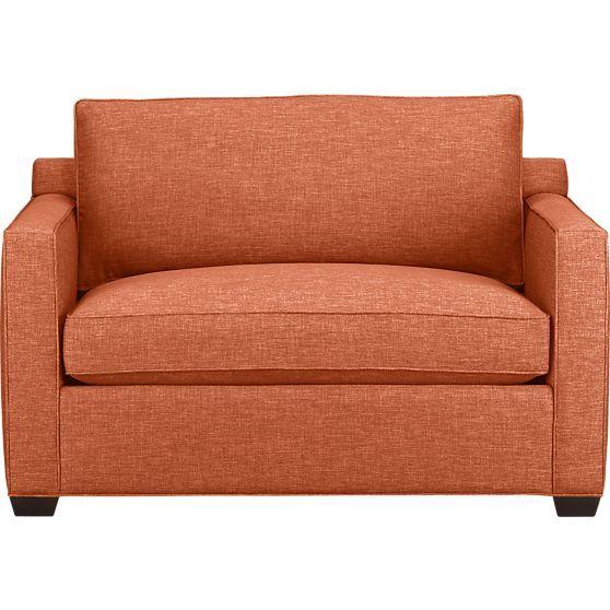 Davis Twin Sleeper Sofa In Sleeper Sofas Crate And