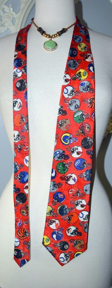Red Team NFL football Teams HELMETS MADE IN THE USA Rams SF Cowboys Collectible  #TeamNFL #Tie