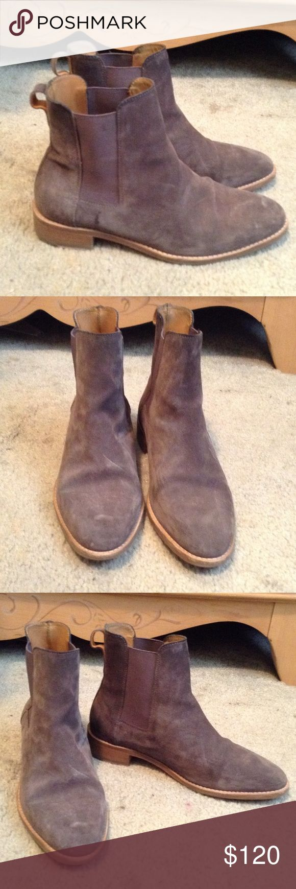 A/W 16 COS Chelsea boots size 7.5 Awesome gray suede Chelsea boots. NO TRADES! COS Shoes Ankle Boots & Booties