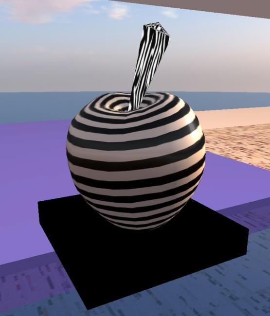 Sculpture 2010 par tehos sculpture expressionisme abstrait apple pomme t - Toile acrylique moderne ...