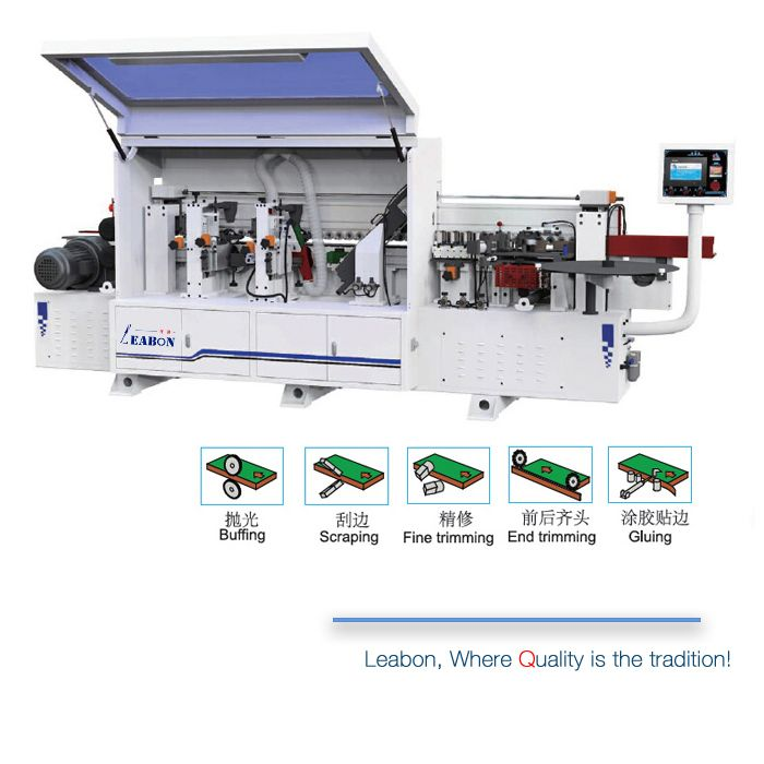 This Model Machine Is Most Popular Edge Banding Equipment For Mdf Plywood And Melamine Panel And Cabinet Edge Bandi Wood Strips Woodworking Machinery Paneling