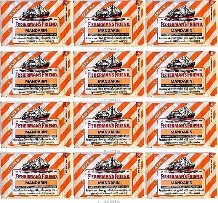 Fisherman 'S Friend Sugar Free Spicy Mandarin Flavour Lozenges 12 Packs X 25 G #FishermanSFriend