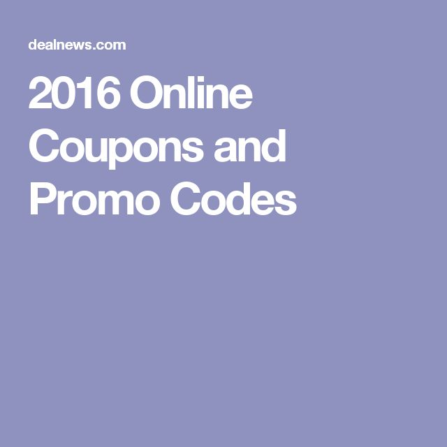 2016 Online Coupons and Promo Codes