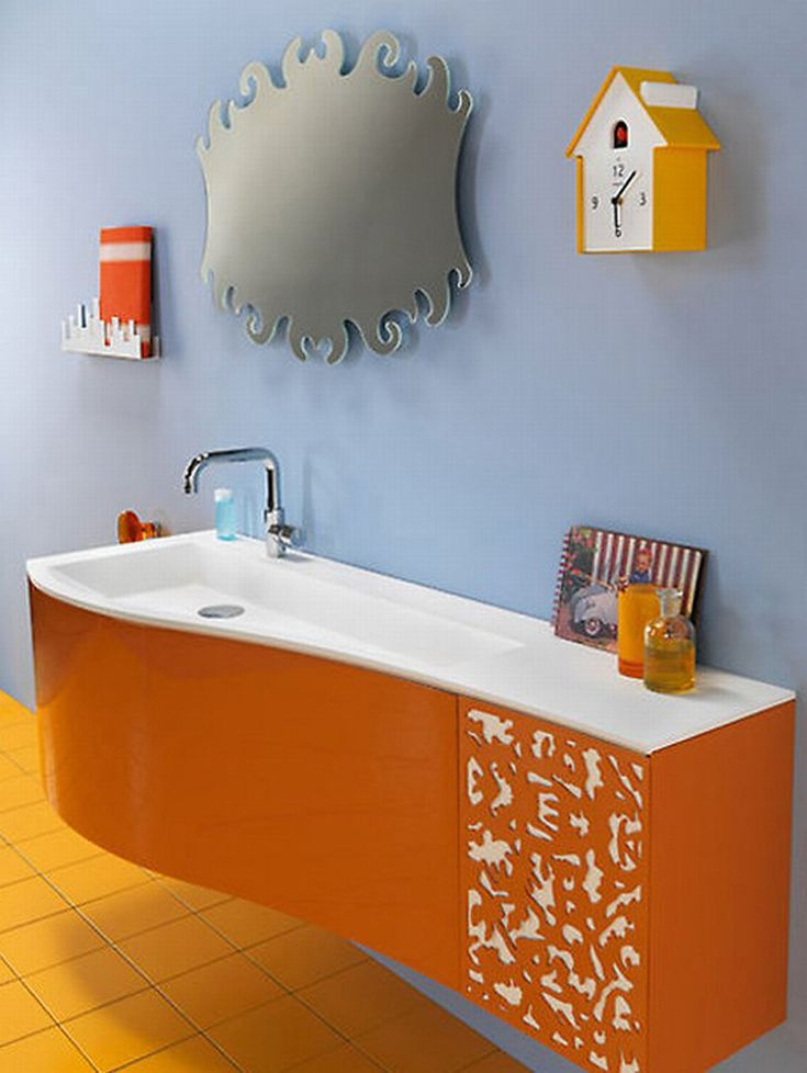 31 best ORange bathroom images on Pinterest | Orange bathrooms ...