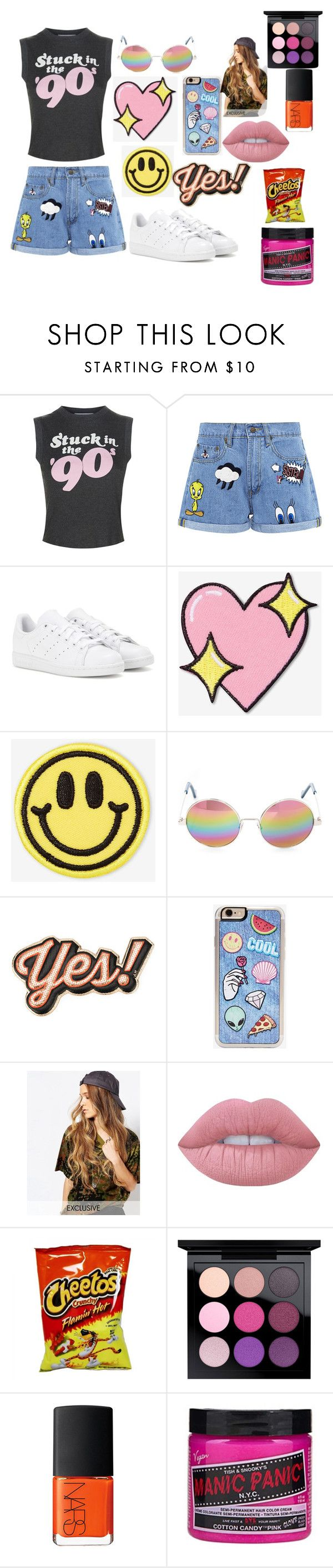 """""""90's kid"""" by infinitelover09 on Polyvore featuring Wildfox, Paul & Joe Sister, adidas, Big Bud Press, Cutler and Gross, Anya Hindmarch, Zero Gravity, Reclaimed Vintage, Lime Crime and MAC Cosmetics"""