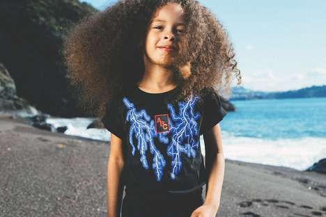 Lightning-Inspired Kids Clothes  A.B.C Kidswear's 'Quiet Storm' Line is Inspired by Iconic Logos (TrendHunter.com)