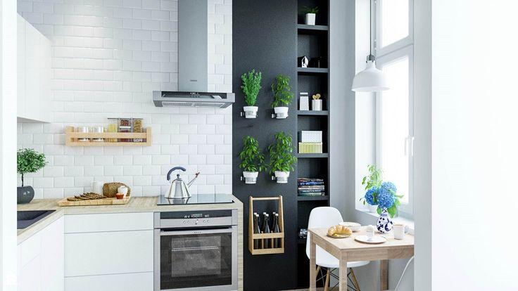 Kuchnia we wrocławskiej kamienicy. - zdjęcie od Houselab - Projektowanie Wnętrz - Kuchnia - Styl Skandynawski - Houselab - Projektowanie Wnętrz