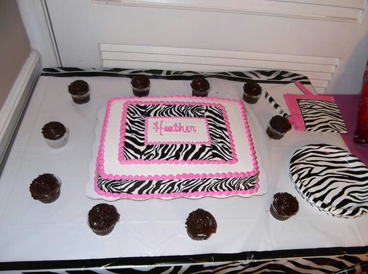 Zebra Print Cake Done By Walmart Baby Shower Ideas