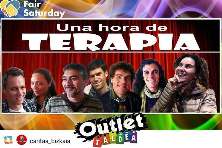 @caritas_bizkaia ------------------ TEATRO SOLIDARIO: Una hora de TERAPIA para superar el vacío existencial - Outlet Taldea a BENEFICIO de CÁRITAS BIZKAIA  SÁBADO 25 de NOVIEMBRE a las 20 h. en el 'Salón del CARMEN' (INDAUTXU) - Bilbao  Venta de entradas (10 uros):  Cáritas Bizkaia (SS.GG. - Ribera 8 bajo - Bilbao): en horario de oficina [L-V de 8:30 a 14 y L-J de 16 a 19 h.].  Salón del CARMEN: el propio día de la función (25-Nov.) a partir de las 18:00 horas.  Enmarcado dentro de la…