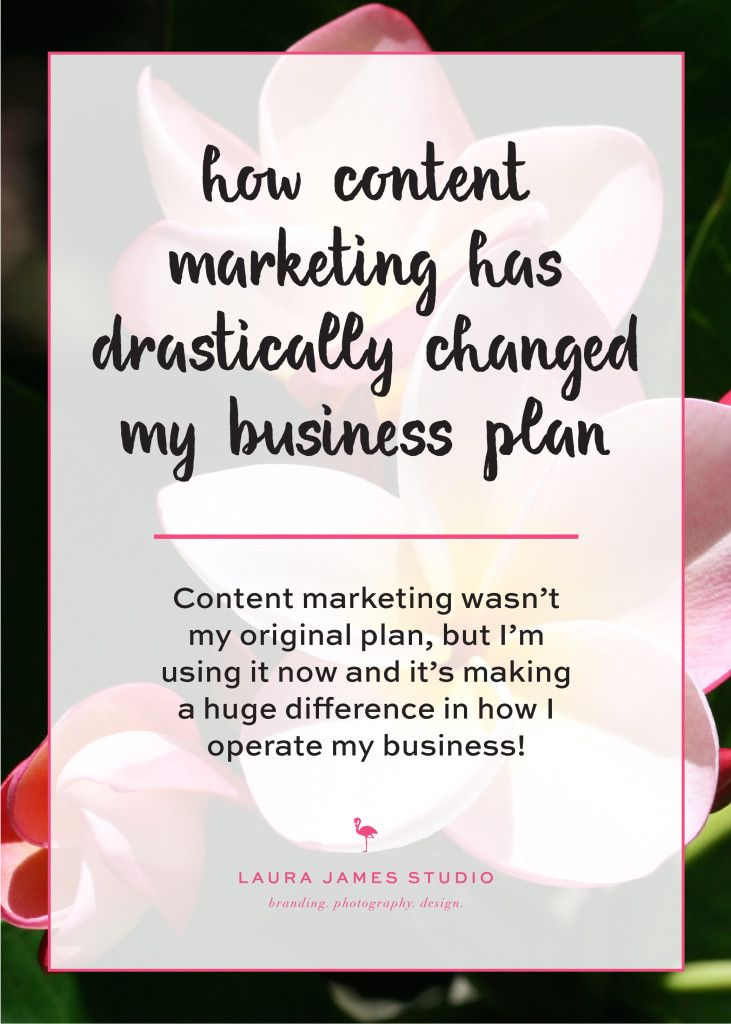 Content marketing wasn't always part of my business plan, but with the addition of creating eCourses, blog posts, and my free downloadable PDF, I've seen a major change for the better. Here's a few ways it's changed my business plan! Laura James Studio