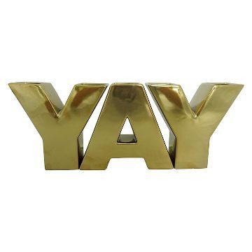 Oh Joy! YAY Vase Set in Gold