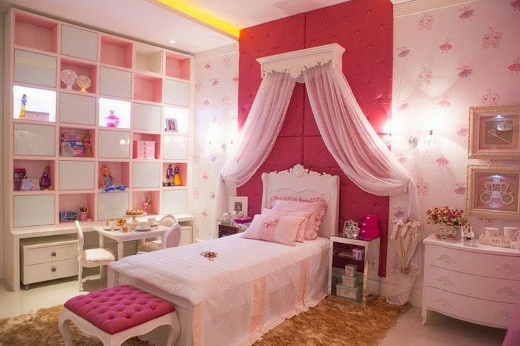 Como princesa recamara kids princesas disney pink for Decoracion de recamaras