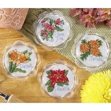 counted cross stitch coasters