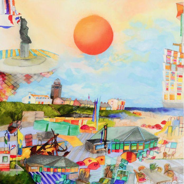 Het Hollands stadsgezicht wordt door Susan Schildkampop een kleurrijke manierverbeeld, die zich aan realisme weinig gelegen laat liggen. Susan Schildkampis van vele markten thuis. Naar haar ontwerpen worden kleden in Nepal gemaakt, die Bas van pelt in Den Haag verkocht.…