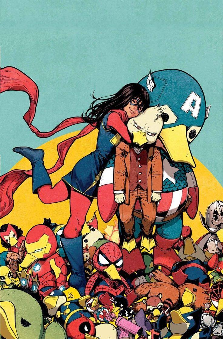 Marvel,Вселенная Марвел,фэндомы,Kamala Khan,Мисс Марвел, Камала Кхан,Howard the Duck,Kamome Shirahama