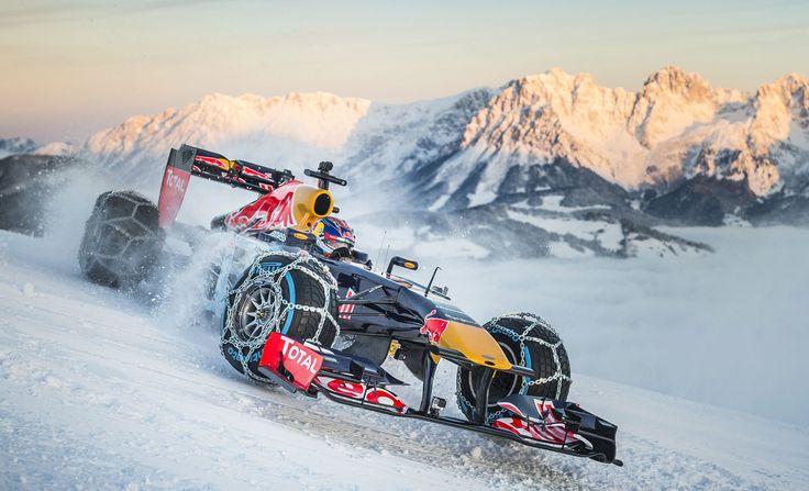 GALERIE: Tomu neuvěříte: Formule 1 se nebojí sněhu, řádí na sjezdovce v Alpách (videa) | FOTO 23 | auto.cz