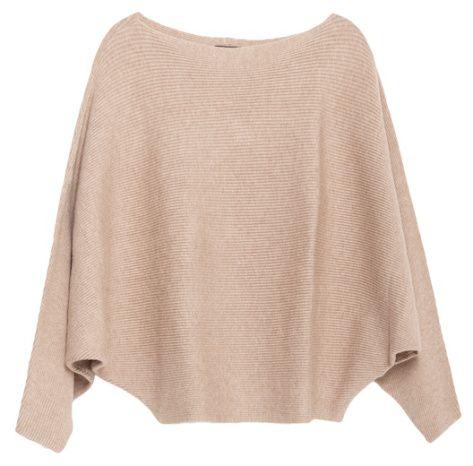 Pull à manches chauve-souris beige, Zara                                                                                                                                                                                 Plus