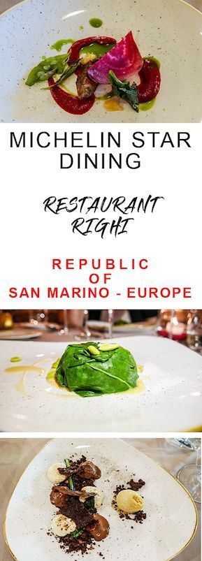 Looking for a fine dining in a San Marino restaurant? Restaurant Righi in the Old Town, offers a one-star Michelin dining experience with a view. | Best places to eat in San Marino | Where to eat in San Marino | Restaurants in San Marino | San Marino Restaurants #blogville #visitsanmarino #michelin